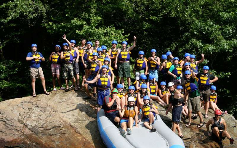 Raft One white water rafting group on the Ocoee river.