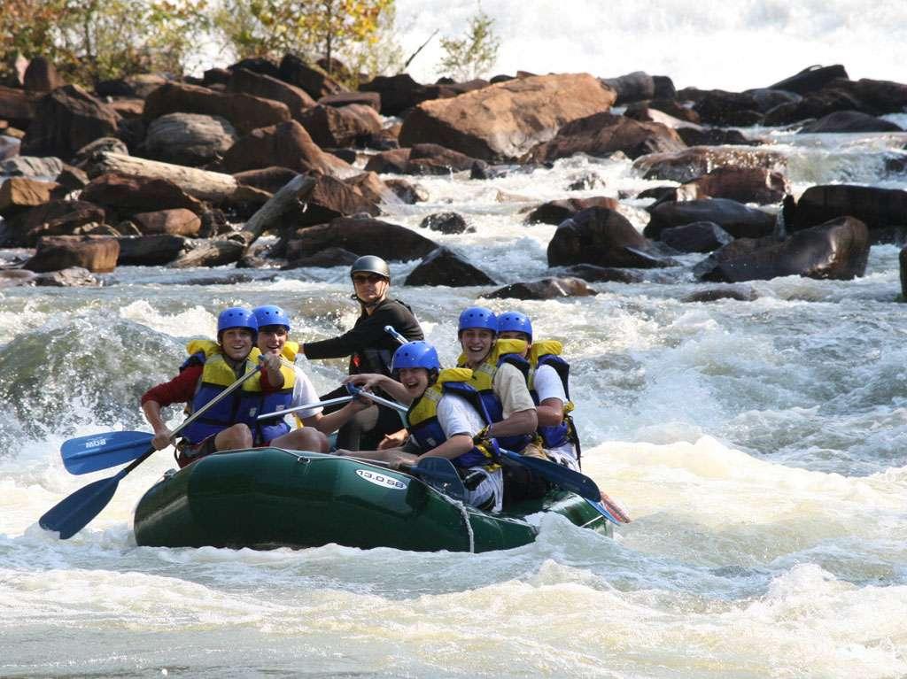 Ocoee rafting the put in rapid. Ocoee River TN.