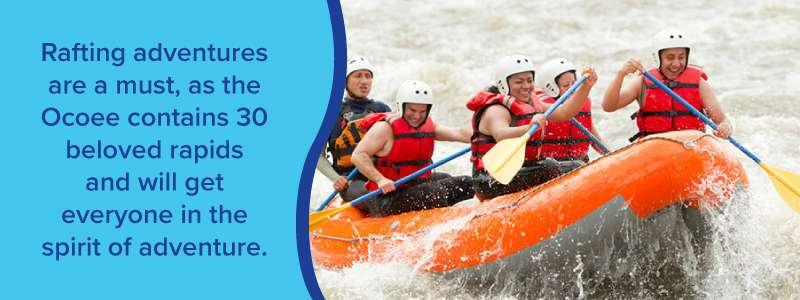 adventure rafting packages on the ocoee
