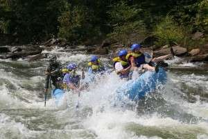White water rafting on the Ocoee River - Double Trouble