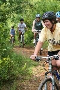 Riding mountain bikes in Ocoee TN