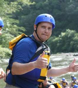 Thumbs up for Raft One Ocoee rafting.