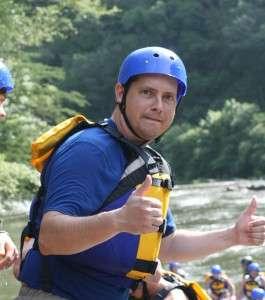 Thumbs up for Raft One Ocoee rafting.