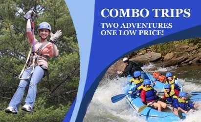 Ocoee Rafting, Ocoee Zipline, Ocoee Mountain Bike - Combo Trips